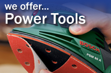 We offer power tools - small ad