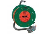 25M 230V Four Socket Garden Cable Reel with RCD Adaptor