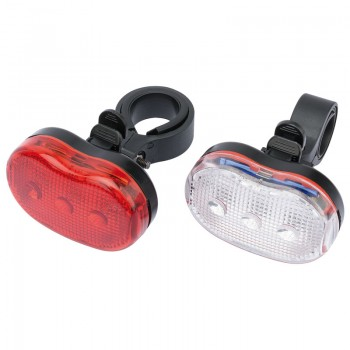 Front and Rear LED Bicycle Light Set