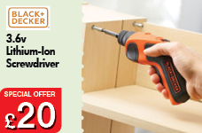 Lithium-Ion Screwdriver 3.6v – Now Only £20.00